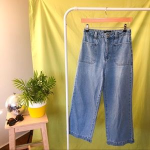 SPORTSGIRL DENIM WIDE LEG PANTS